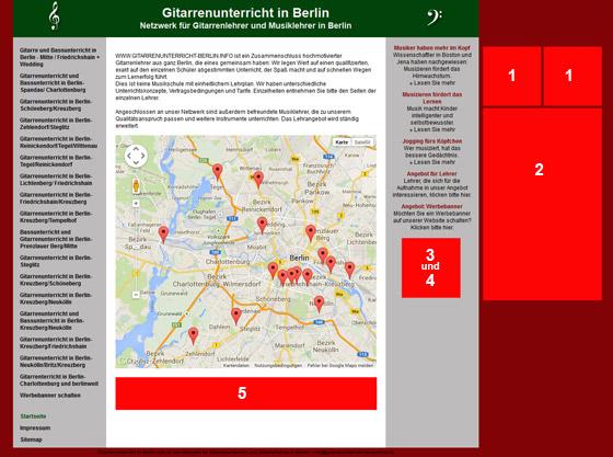 Werbeplätze auf gitarrenunterricht-berlin.info